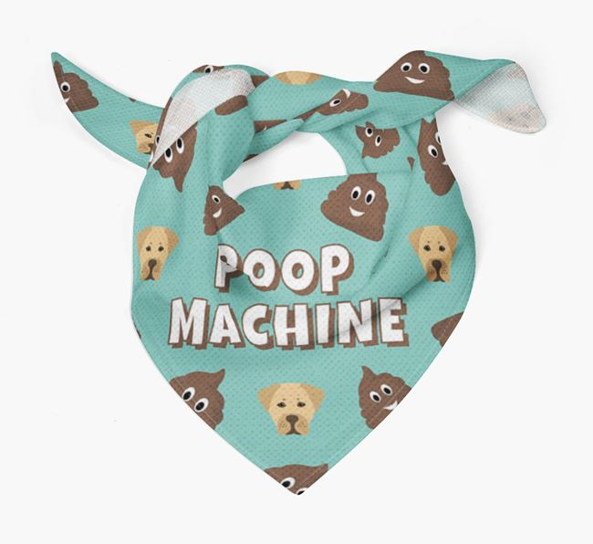 'Poop Machine' Bandana with Boxador Icons
