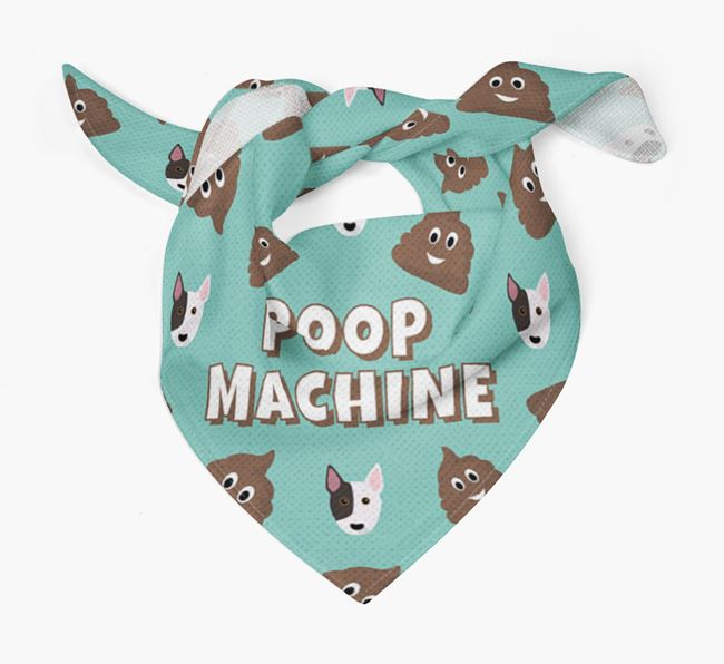 'Poop Machine' Bandana with Bull Terrier Icons
