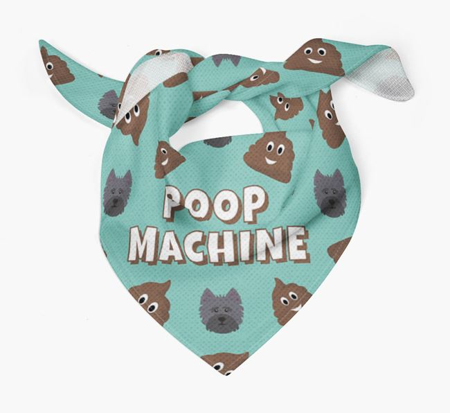 'Poop Machine' Bandana with Cairn Terrier Icons