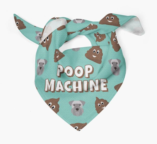 'Poop Machine' Bandana with Cesky Terrier Icons