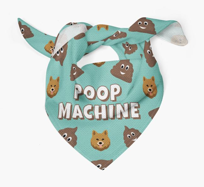 'Poop Machine' Bandana with Chow Shepherd Icons