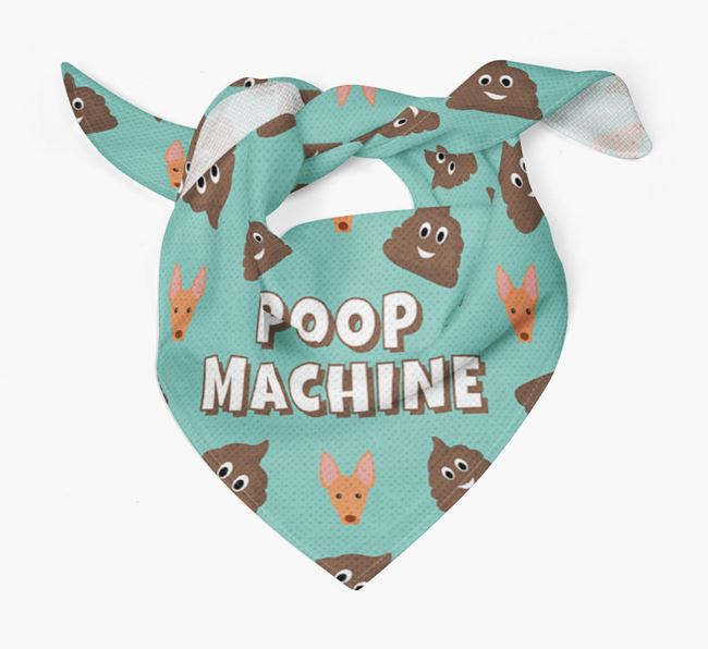 'Poop Machine' Bandana with Cirneco Dell'Etna Icons