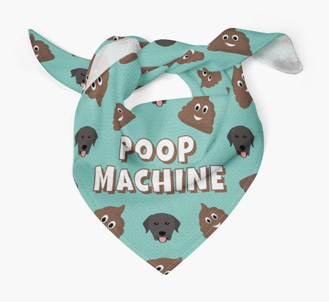 'Poop Machine' Bandana with Curly Coated Retriever Icons