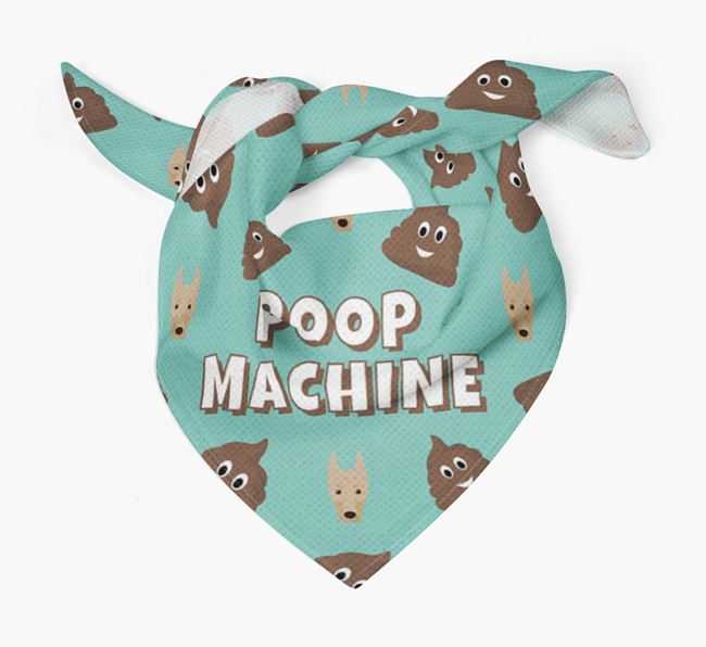 'Poop Machine' Bandana with Dobermann Icons