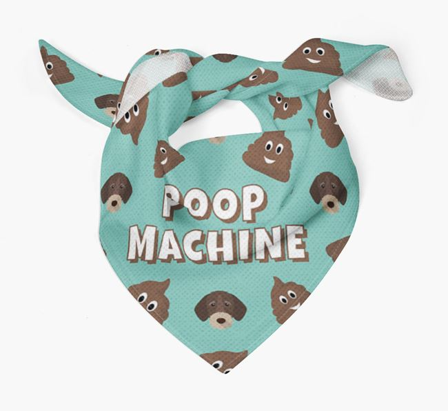 'Poop Machine' Bandana with German Wirehaired Pointer Icons