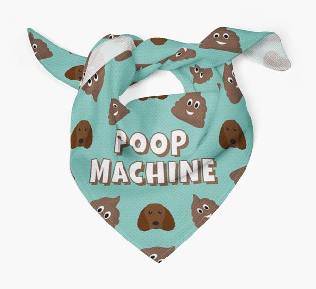 'Poop Machine' Bandana with Irish Water Spaniel Icons
