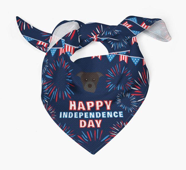 Independence Day Bandana with Dog Icon