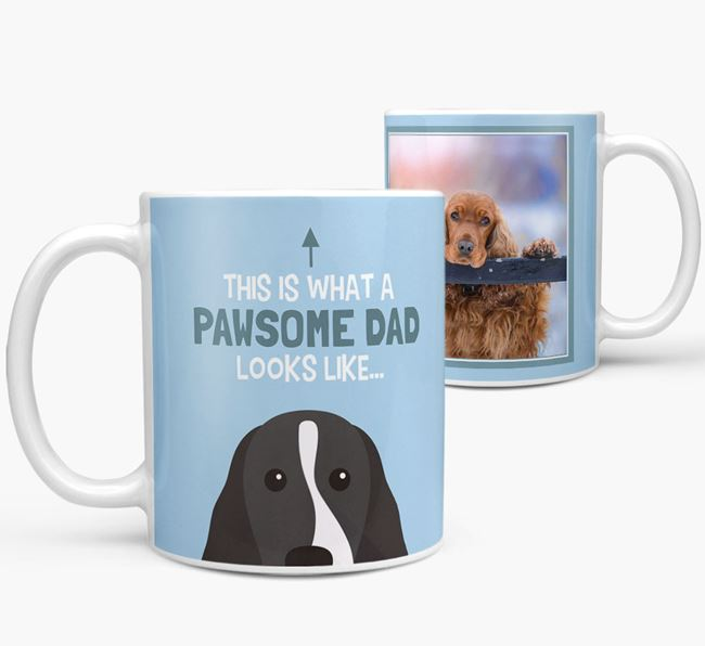 Personalized 'This is what a pawsome dad looks like...' Mug