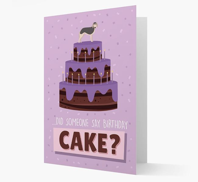'Did Someone Say Birthday Cake?' Card with Borzoi Icon
