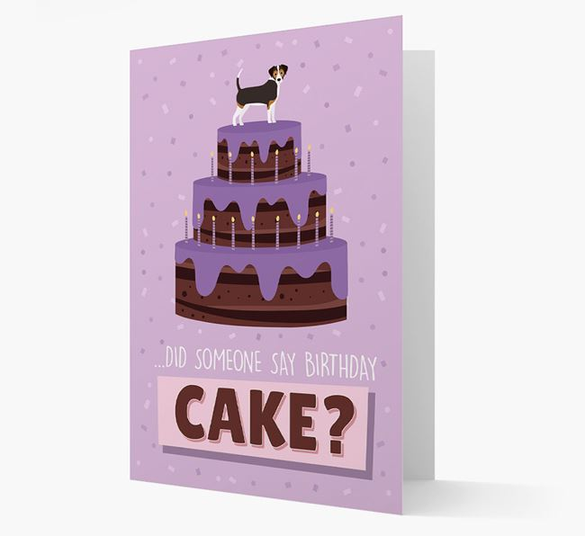 'Did Someone Say Birthday Cake?' Card with Cheagle Icon