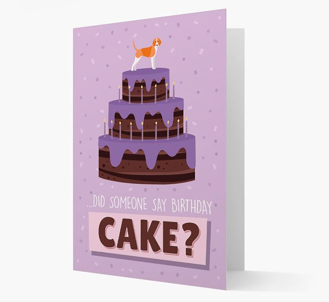 'Did Someone Say Birthday Cake?' Card with Foxhound Icon
