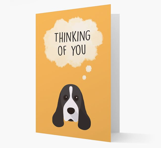 'Thinking of You' Card with American Cocker Spaniel Icon