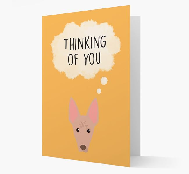 'Thinking of You' Card with American Hairless Terrier Icon