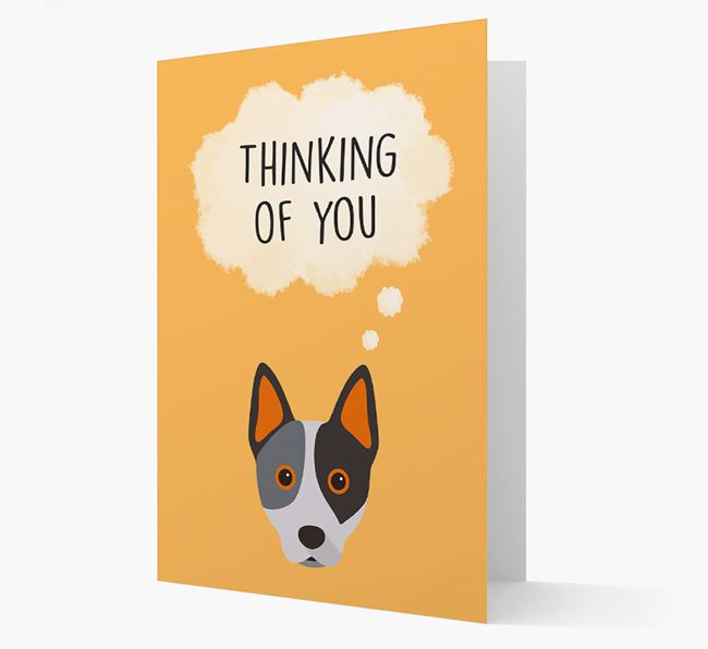 'Thinking of You' Card with Australian Cattle Dog Icon