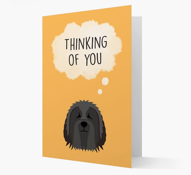 'Thinking of You' Card with Bearded Collie Icon