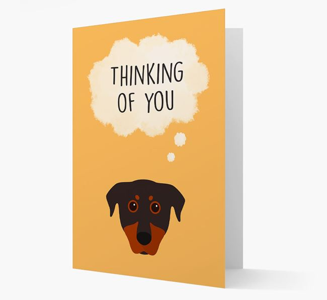 'Thinking of You' Card with Beauceron Icon