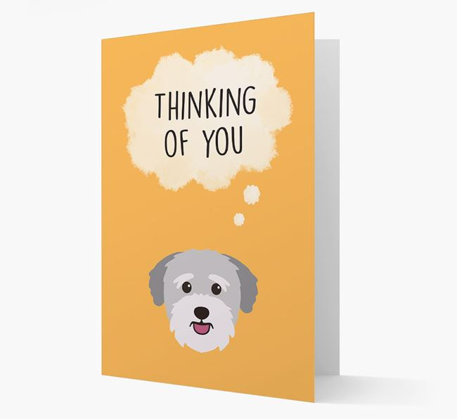 'Thinking of You' Card with Bichon Yorkie Icon