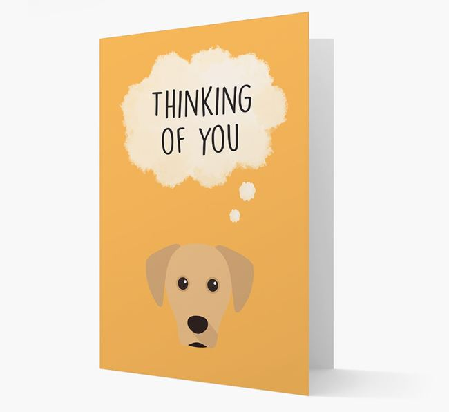 'Thinking of You' Card with Blue Lacy Icon