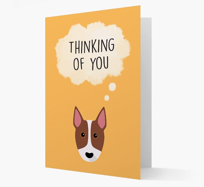 'Thinking of You' Card with Bull Terrier Icon