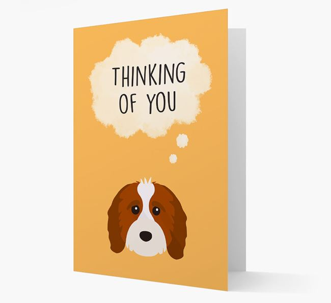 'Thinking of You' Card with Cavapoo Icon