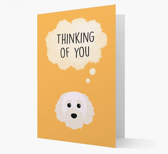 'Thinking of You' Card with Cavapoochon Icon