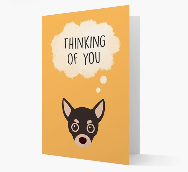'Thinking of You' Card with Chihuahua Icon