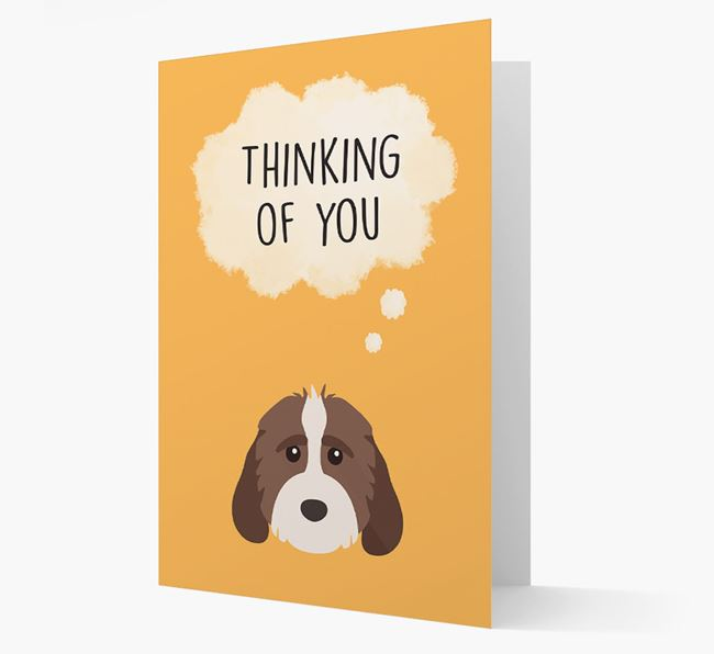 'Thinking of You' Card with Cockapoo Icon