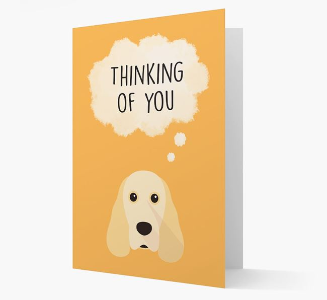 'Thinking of You' Card with Cocker Spaniel Icon