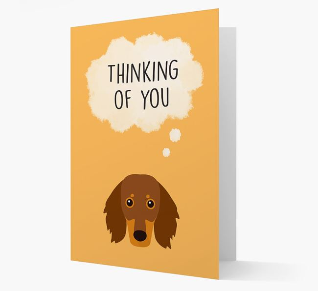 'Thinking of You' Card with Dachshund Icon