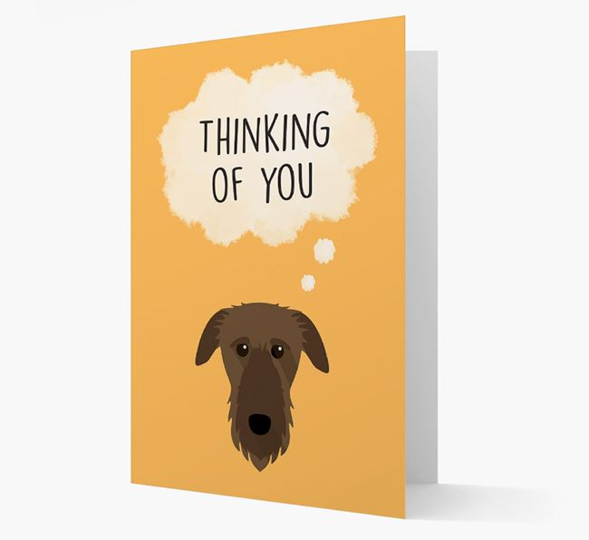 'Thinking of You' Card with Deerhound Icon