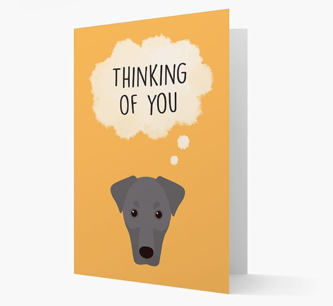 'Thinking of You' Card with Dobermann Icon