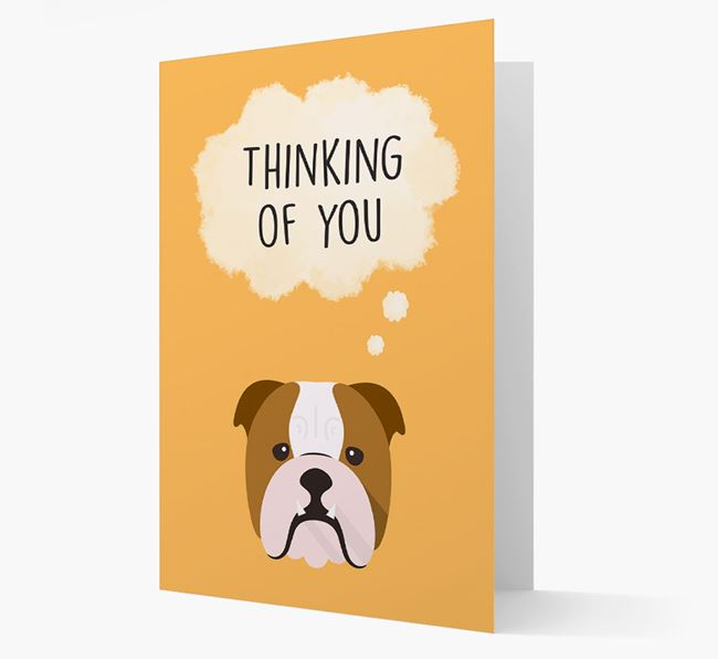 'Thinking of You' Card with English Bulldog Icon
