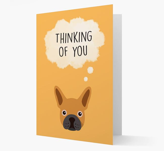 'Thinking of You' Card with French Bulldog Icon