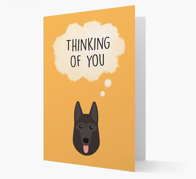 'Thinking of You' Card with German Shepherd Icon