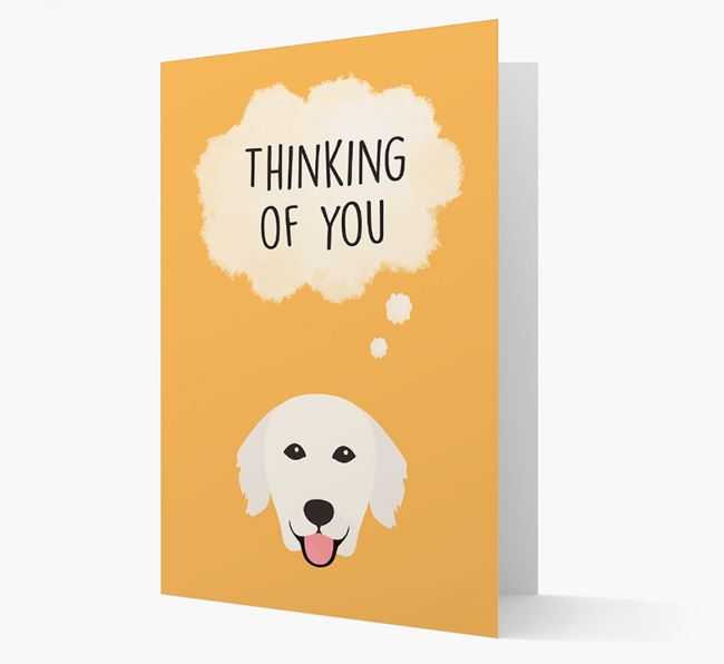 'Thinking of You' Card with Golden Retriever Icon