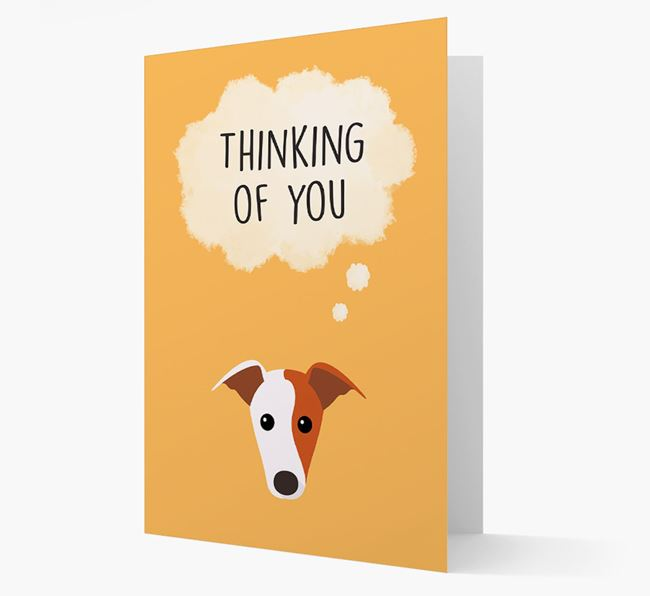 'Thinking of You' Card with Greyhound Icon