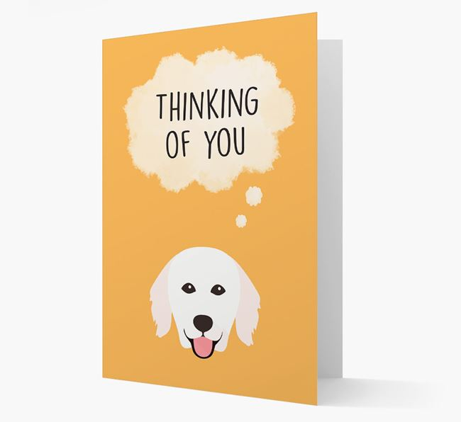 'Thinking of You' Card with Hungarian Kuvasz Icon
