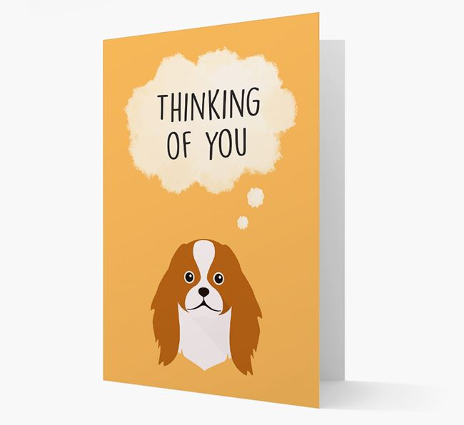 'Thinking of You' Card with Japanese Chin Icon