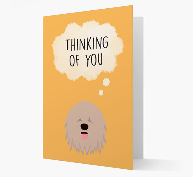 'Thinking of You' Card with Komondor Icon