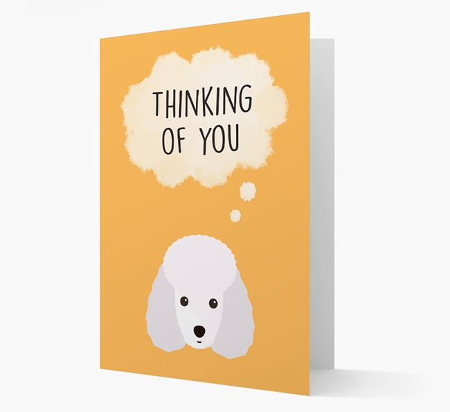 'Thinking of You' Card with Miniature Poodle Icon