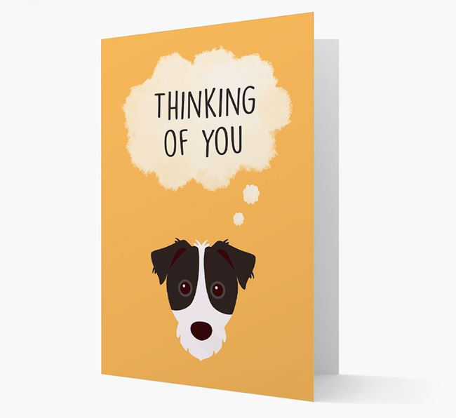 'Thinking of You' Card with Parson Russell Terrier Icon
