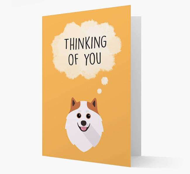 'Thinking of You' Card with Pomeranian Icon