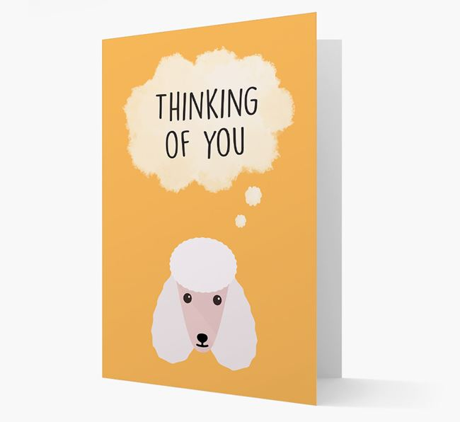 'Thinking of You' Card with Poodle Icon