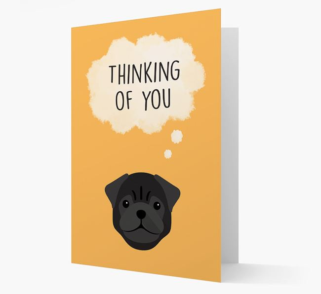 'Thinking of You' Card with Pug Icon