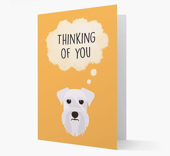 'Thinking of You' Card with Schnauzer Icon