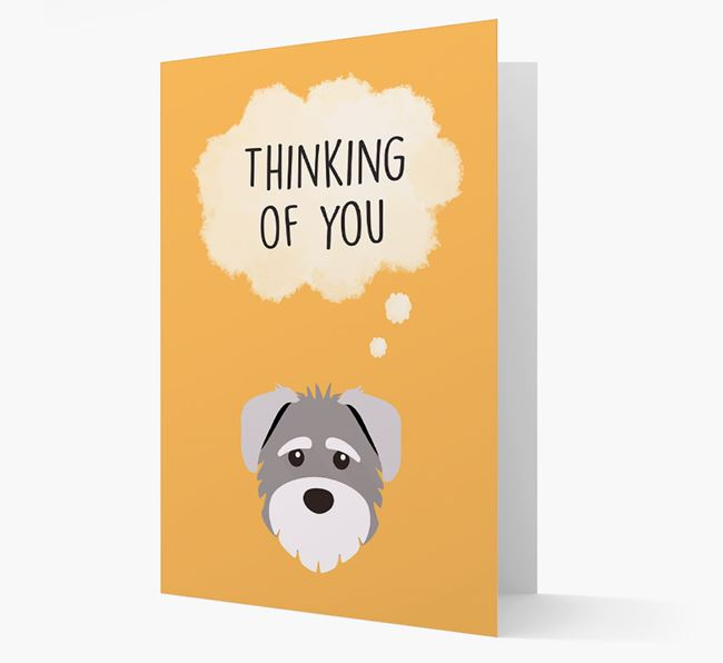 'Thinking of You' Card with Schnoodle Icon