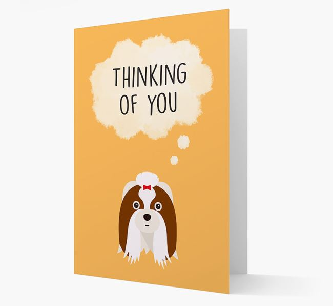 'Thinking of You' Card with Shih Tzu Icon