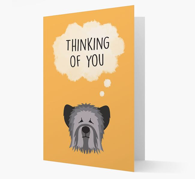 'Thinking of You' Card with Skye Terrier Icon