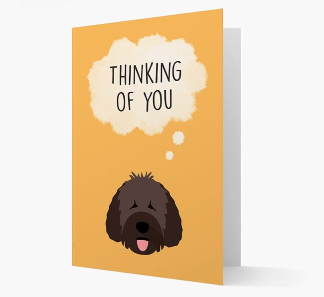 'Thinking of You' Card with Spanish Water Dog Icon