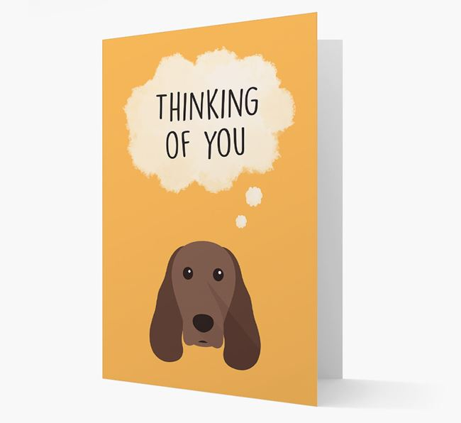 'Thinking of You' Card with Springer Spaniel Icon